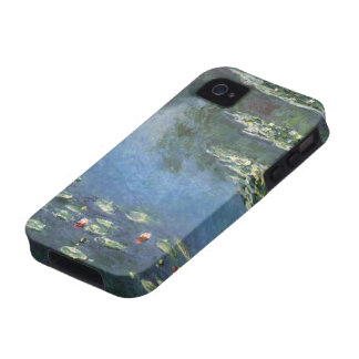 Vintage Floral Impressionism, Waterlilies by Monet iPhone 4 Cases