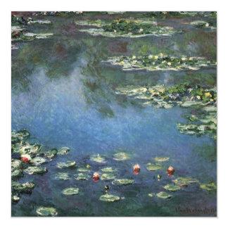Vintage Floral Impressionism, Waterlilies by Monet Invitation
