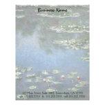 Vintage Floral Impressionism, Waterlilies by Monet Letterhead