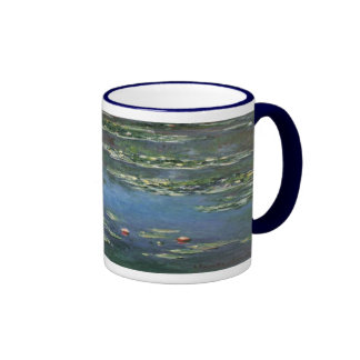 Vintage Floral Impressionism, Waterlilies by Monet Ringer Mug