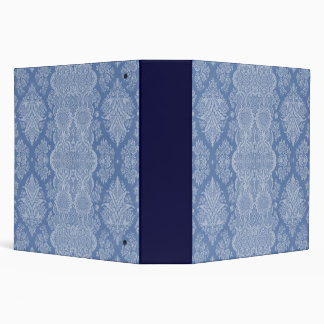 Vintage Floral in Shades of Blue 3 Ring Binder