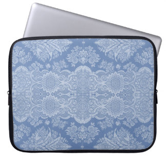 Vintage Floral in Shades of Blue Laptop Computer Sleeves