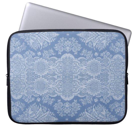 Vintage Floral in Shades of Blue Laptop Sleeve