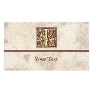 Vintage Floral Initial I Double-Sided Standard Business Cards (Pack Of 100)
