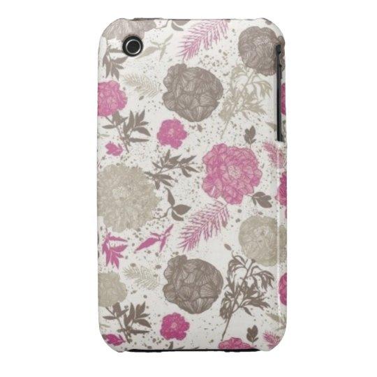 Vintage Floral iPhone 3 Case-Mate Case