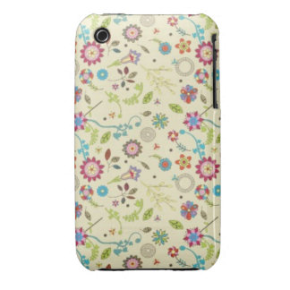 Vintage floral iPhone 3 protectores