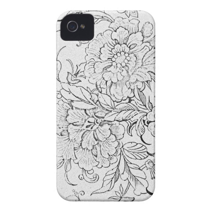 Vintage Floral iPhone 4 Case-Mate Case