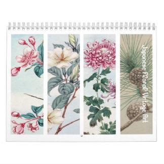 Vintage Floral Japanese Art Calendar