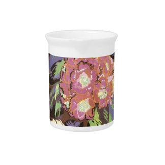 Vintage floral jarras de beber