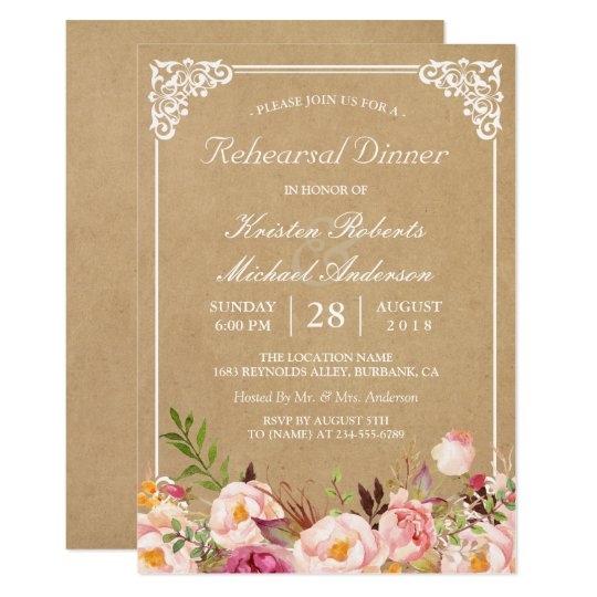 Rustic Vintage Bbq Rehearsal Dinner Invitation Zazzle Com