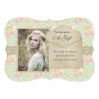 Vintage Floral Lace Gift Certificate Card