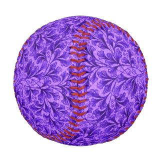 Vintage Floral Lace Leaf Amethyst Purple Baseball