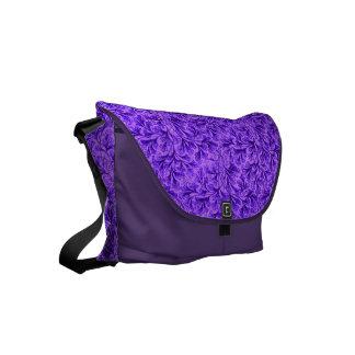 Vintage Floral Lace Leaf Amethyst Purple Small Messenger Bag