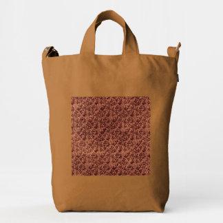 Vintage Floral Lace Leaf Coffee Brown Duck Bag