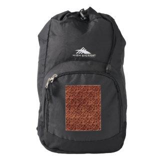 Vintage Floral Lace Leaf Coffee Brown High Sierra Backpack