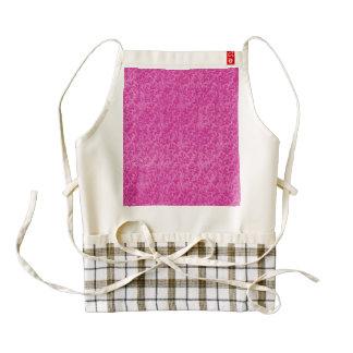 Vintage Floral Lace Leaf Hot Pink Zazzle HEART Apron