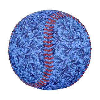Vintage Floral Lace Leaf Sapphire Blue Baseball