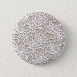 Vintage Floral Lace Pinback Button