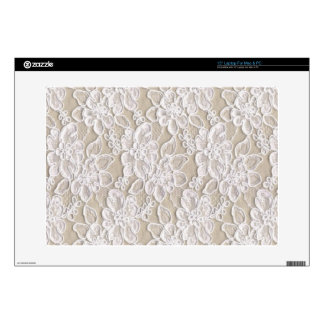 "Vintage Floral Lace Skins For 15"" Laptops"