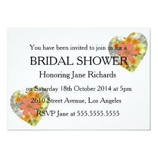 Vintage Floral Lace Wedding Shower 5x7 Paper Invitation Card