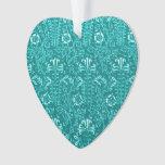Vintage Floral Lapis Turquoise Teal