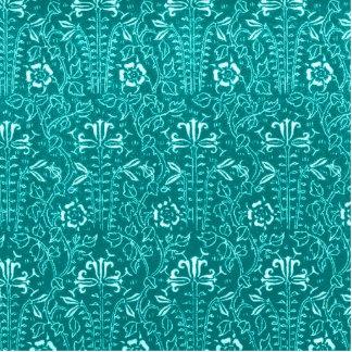 Vintage Floral Lapis Turquoise Teal Cutout