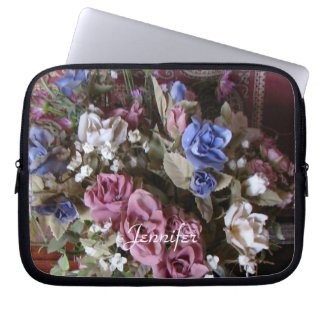 Vintage Floral Laptop Computer Sleeve