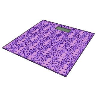 Vintage Fl Lavender Orchid Purple Bathroom Scale