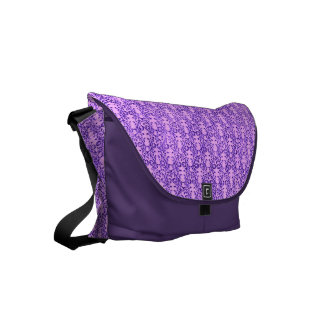 Vintage Floral Lavender Orchid Purple Small Messenger Bag