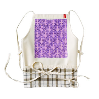 Vintage Floral Lavender Orchid Purple Zazzle HEART Apron