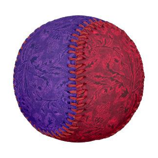 Vintage Floral Leaf Amethyst Purple and Ruby Red Baseball
