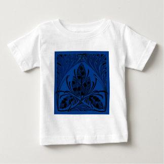 Vintage Floral Leaf Blue Tee Shirts