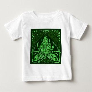 Vintage Floral Leaf Green Baby T-Shirt
