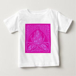 Vintage Floral Leaf Hot Pink Baby T-Shirt