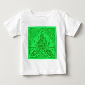 Vintage Floral Leaf Neon Green Baby T-Shirt