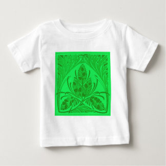 Vintage Floral Leaf Neon Green Tshirts