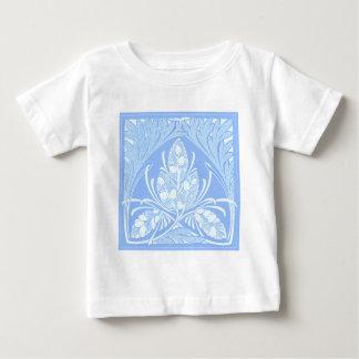 Vintage Floral Leaf Powder Blue Baby T-Shirt