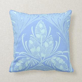 Vintage Floral Leaf Powder Blue  Pillows Pillows