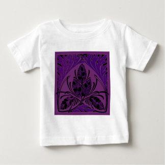 Vintage Floral Leaf Purple Baby T-Shirt