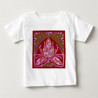Vintage Floral Leaf Red Baby T-Shirt