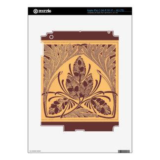 Vintage Floral Leaf Sand Skins For iPad 3