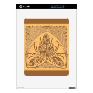 Vintage Floral Leaf Sand Decals For The iPad