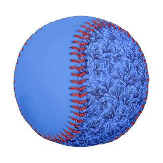 Vintage Floral Leaf Sapphire Blue Baseball