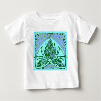 Vintage Floral Leaf Teal Baby T-Shirt