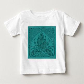 Vintage Floral Leaf Turquoise Baby T-Shirt