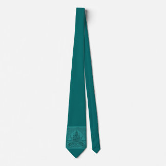 Vintage Floral Leaf Turquoise Tie