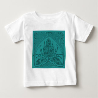 Vintage Floral Leaf Turquoise T Shirt