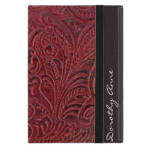 Vintage Floral Leather-Look Case For iPad Mini