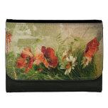 Vintage Floral Leather Wallet For Women