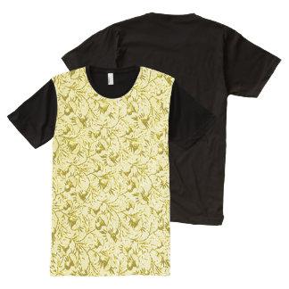 Vintage Floral Lemon Yellow All-Over-Print Shirt
